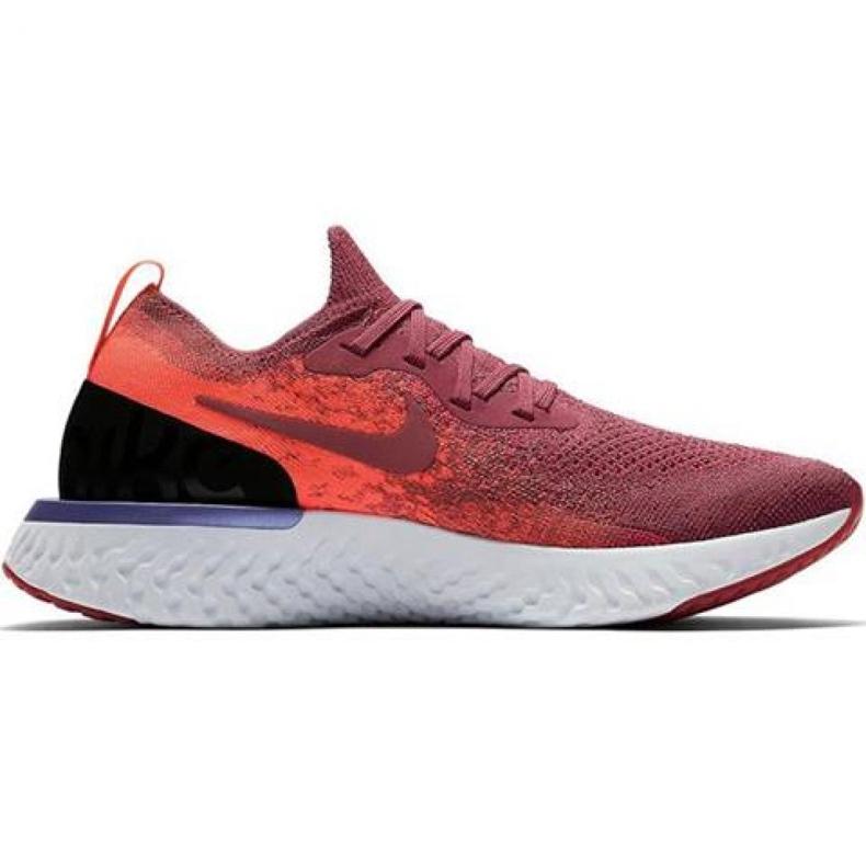 Zapatillas de running Nike Epic React Flyknit W AQ0070 601 rojo