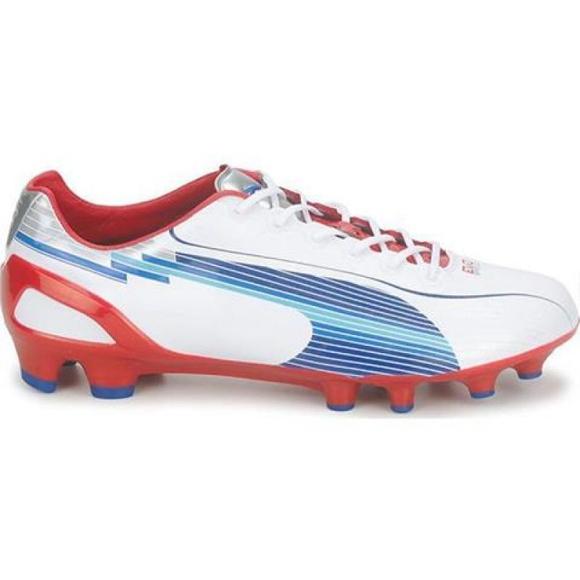 Zapatillas de fútbol Puma Evo Speed 1 Fg M 102527 01 blanco blanco