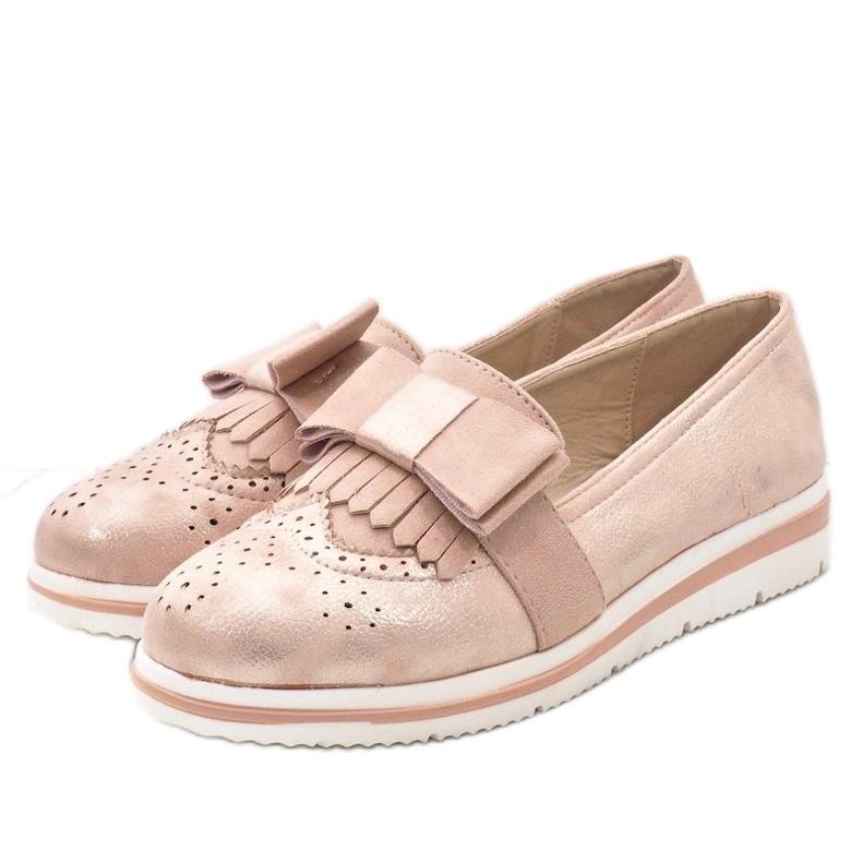 Zapatos rosa mate en la cuña YT-8