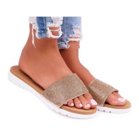 Zapatillas de oro Lu Boo para mujer con lentejuelas Goodies