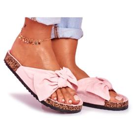 BUGO Zapatillas de mujer en corcho corcho en polvo rosa Wendy