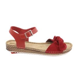 Zapatillas de mujer Comfort Inblu 158D117 rojo