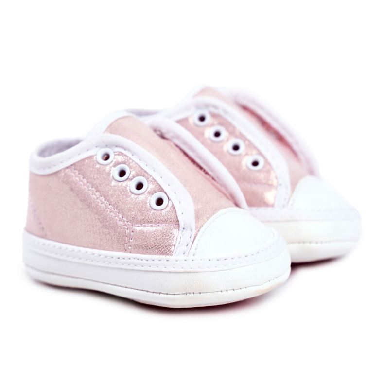 Apawwa Zapatillas de velcro para bebé con brillo bautizo rosa Milley