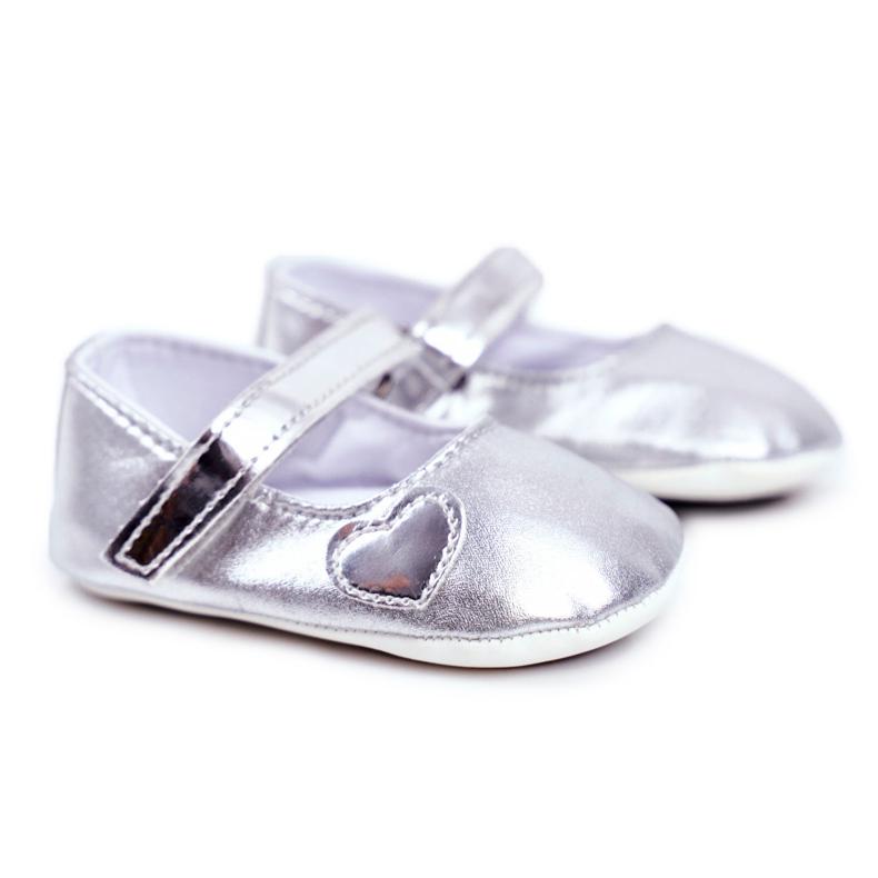 Apawwa Bautismo Baby Velcro Zapatillas de deporte Bellawa Silver gris