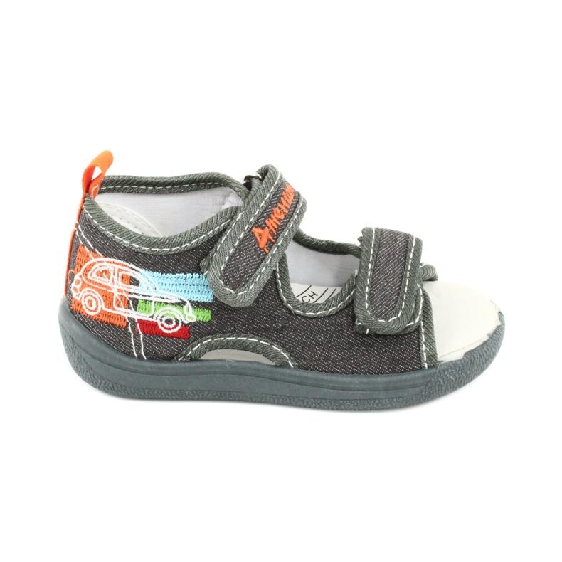 American Club Sandalias americanas zapatos para niños plantilla de cuero TEN46