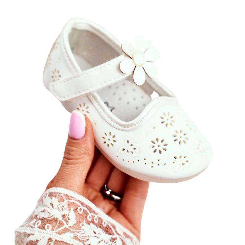 Apawwa Mocasines Infantiles Velcro Flor Blanco Floreado