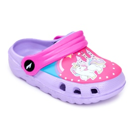 Zapatillas de niños Crocs de espuma Ponis violetas Poni púrpura
