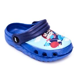 Zapatillas de niños Crocs de espuma Blue Bear Pilot SuperFly azul