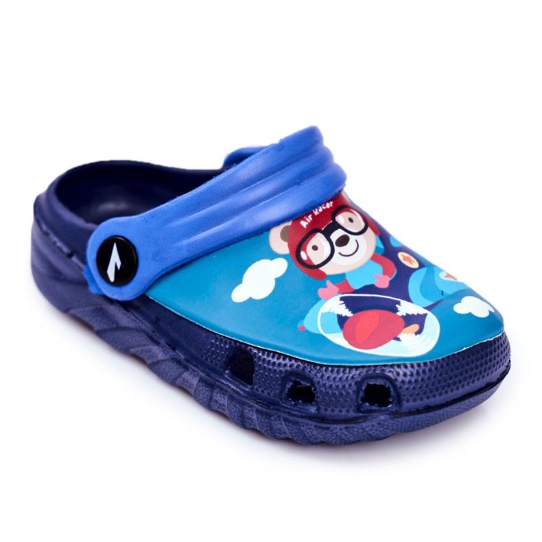 Zapatillas de niños Crocs de espuma Azul marino Osito de peluche Piloto SuperFly