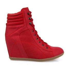 Sneakers Botas En Cuña 562 Rojo