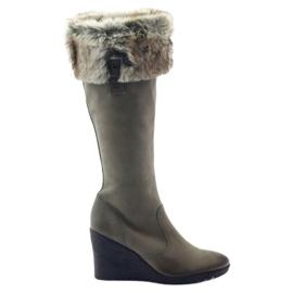 Botas caprice botas piel mujer 25607 gris