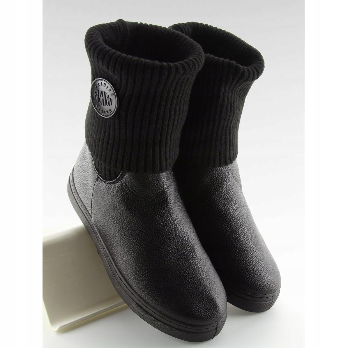 botines-con-parte-superior-de-lana-negro-nb30-negro miniatura 5