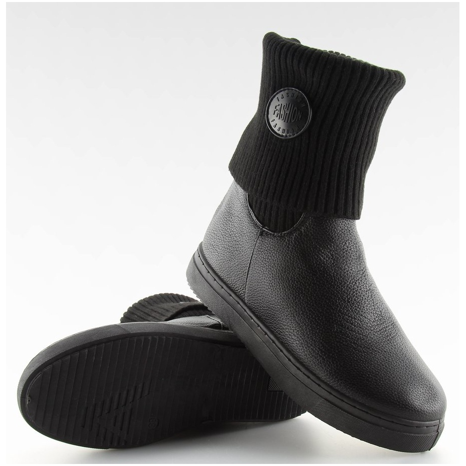 botines-con-parte-superior-de-lana-negro-nb30-negro miniatura 6