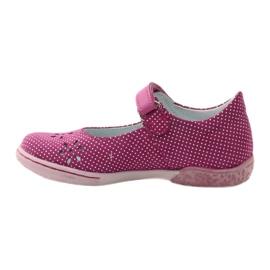 Zapatillas bailarinas de chicas de Ren But 3285 rosa blanco 2