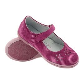 Zapatillas bailarinas de chicas de Ren But 3285 rosa blanco 3