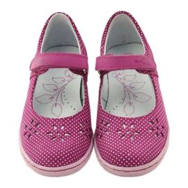 Zapatillas bailarinas de chicas de Ren But 3285 rosa blanco 4