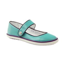 Zapatillas bailarinas para niños bartek 28368 turquesa. 1