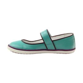 Zapatillas bailarinas para niños bartek 28368 turquesa. 2