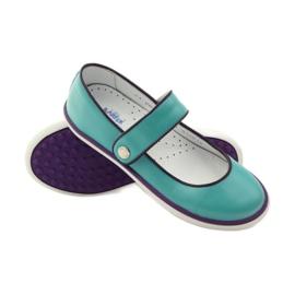 Zapatillas bailarinas para niños bartek 28368 turquesa. 3