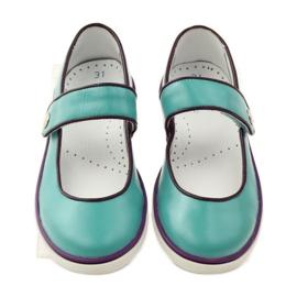 Zapatillas bailarinas para niños bartek 28368 turquesa. 4
