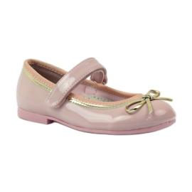 American Club Zapatillas bailarinas con lazo americano. rosa 1