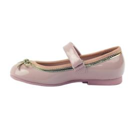 American Club Zapatillas bailarinas con lazo americano. rosa 2