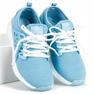 Ax Boxing Zapatos de tela sin cordones azul 1