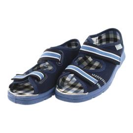 Sandalias zapatos infantiles Velcro Befado 969x101 azul marino 3
