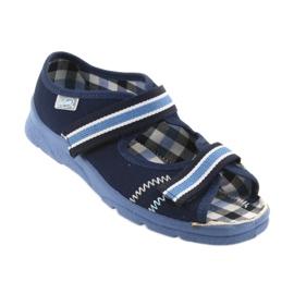 Sandalias zapatos infantiles Velcro Befado 969x101 azul marino 1