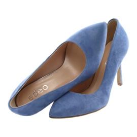 Bombas en un pin zapatos de mujer Edeo 3313 azul 5