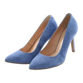 Bombas en un pin zapatos de mujer Edeo 3313 azul 3