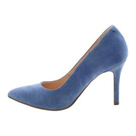 Bombas en un pin zapatos de mujer Edeo 3313 azul 2