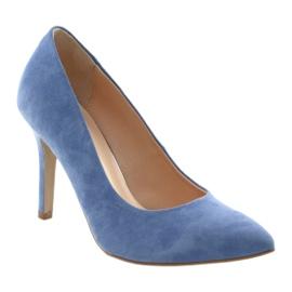 Bombas en un pin zapatos de mujer Edeo 3313 azul 1