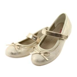 Zapatillas bailarinas con lazo American Club GC18. marrón amarillo 3