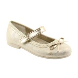 Zapatillas bailarinas con lazo American Club GC18. marrón amarillo 1