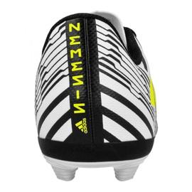 Botas de fútbol adidas Nemeziz 17.4 FxG Jr S82459 blanco blanco negro 2