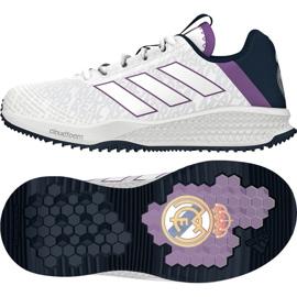 Zapatillas Adidas Rapida Turf Real Madrid Fc Jr. BA9699 blanco blanco 1