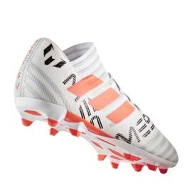 Botas de fútbol adidas Nemeziz Messi 17.3 Fg M CG2965 blanco, naranja blanco 1