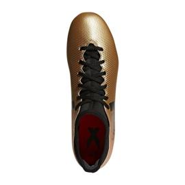 Zapatillas de fútbol adidas X 17.3 Fg M CP9190 dorado negro multicolor 1