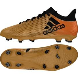 Zapatillas de fútbol adidas X 17.3 Fg M CP9190 dorado negro multicolor 2