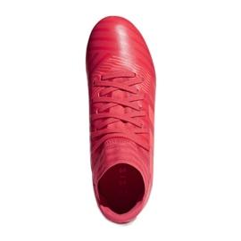 Botas de fútbol adidas Nemeziz 17.3 Fg Jr CP9166 rojo rojo 1