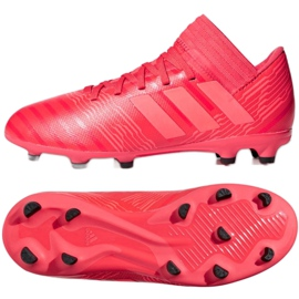 Botas de fútbol adidas Nemeziz 17.3 Fg Jr CP9166 rojo rojo 2