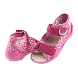 Calzado befado amarillo para niños 342P004 rosa 5