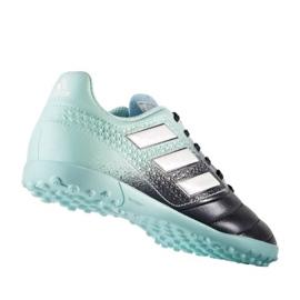 Botas de fútbol adidas Ace 17.4 Tf Jr S77121 negro azul azul 1