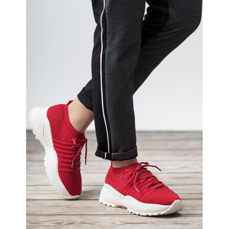 Rojo Zapatillas de deporte VICES ranuradas imagen 2
