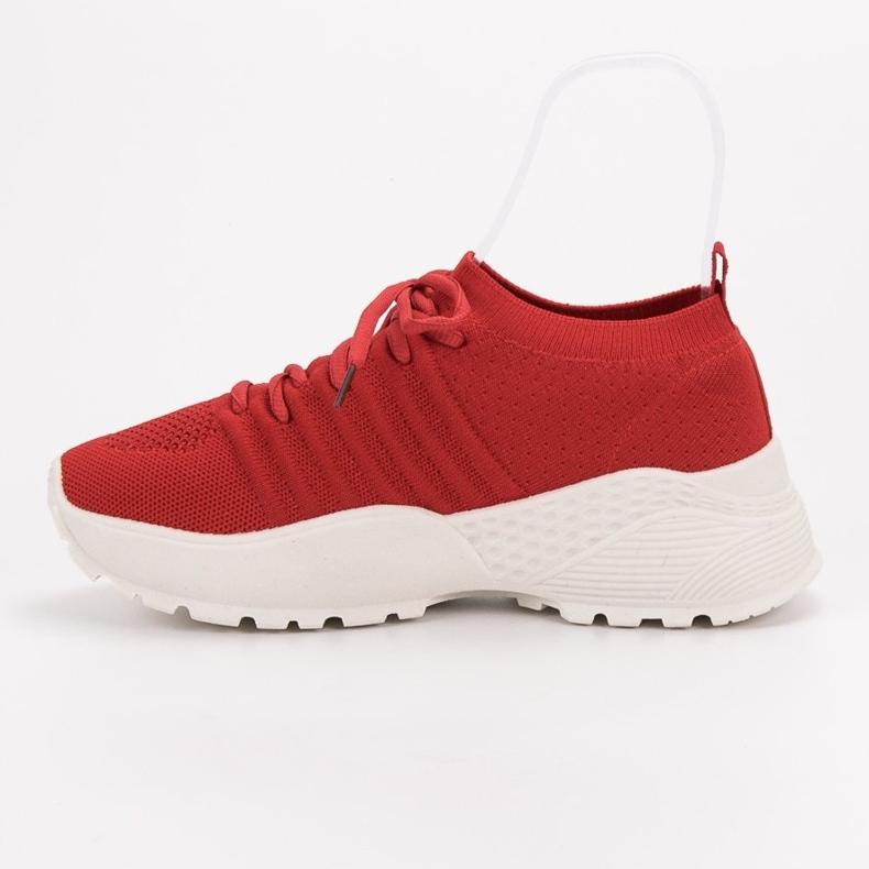 Rojo Zapatillas de deporte VICES ranuradas imagen 4