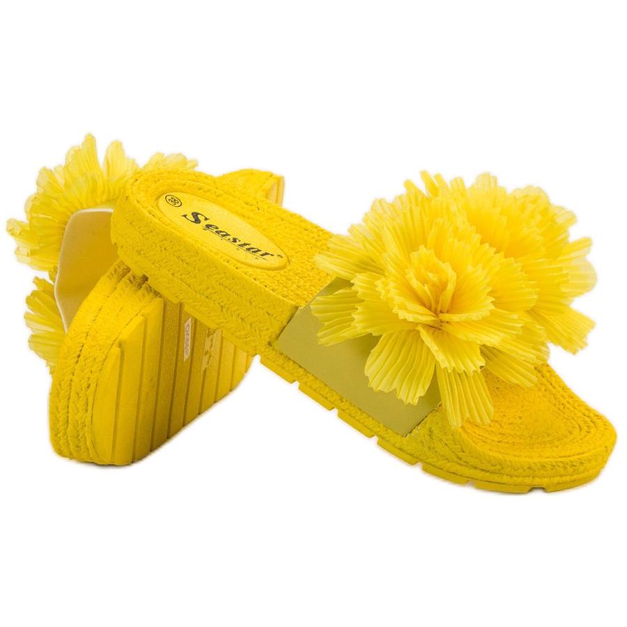 Zapatillas Amarillo Con Flores Seastar Amarillas doexBrC