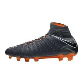 Zapatillas de fútbol Nike Hypervenom Phantom 3 Elite Df Fg M AH7270-081 gris / plata gris 1