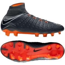 Zapatillas de fútbol Nike Hypervenom Phantom 3 Elite Df Fg M AH7270-081 gris / plata gris 3