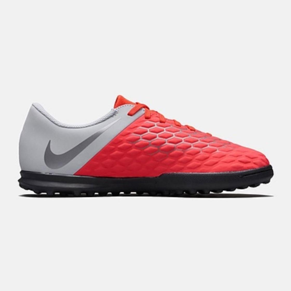 Botas de fútbol Nike Hypervenom Phantomx 3 Club Tf Jr AJ3790 600 rojo blanco